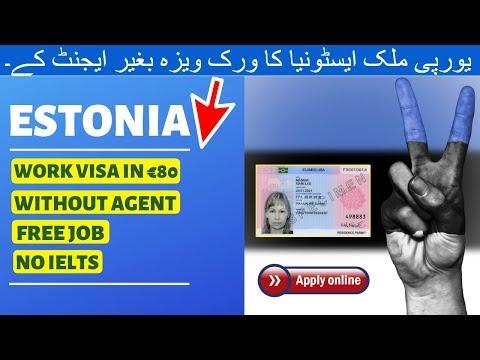 Get ESTONIA Work Visa in €80