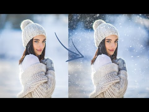 How to Make a Snow Overlay, Easy Tutorial