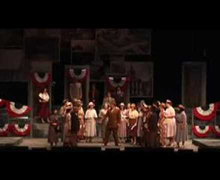"""Last minute of first act of """"Willie Stark"""" LSU Opera"""