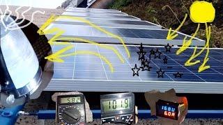 Солнечная электростанция своими руками. (Часть 3.)(тестирование солнечных панелей подключенных в две группы суммарной мощности 1500 Ватт. полученная мощность..., 2016-09-11T16:04:39.000Z)