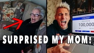SURPRISED MOM FOR THANKSGIVING + HUGE ANNOUNCEMENT!