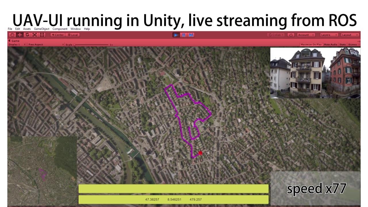 UAV-UI ROS-Unity Bridge Demo