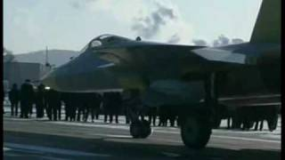 Sukhoi T-50 test flight 29 January 2010.