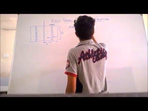 Basic radial diffusivity equation