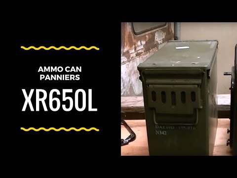 20mm ammo can panniers on my XR650L