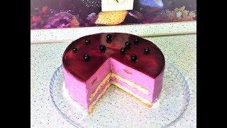 """Муссовый торт """" Чёрная смородина""""/ Muscovy cake """" Black currant"""