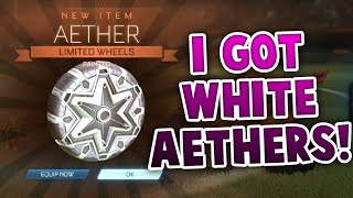 GETTING NEW WHITE AETHER WHEELS | ROCKET LEAGUE NEW WHEELS (ROCKET LEAGUE BEST TRADES)