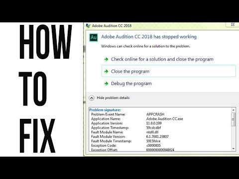 How to fix Adobe Audition crash on startup: