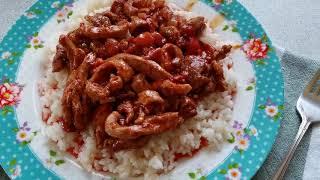 Острая свинина по корейски/Рецепты с пакетика