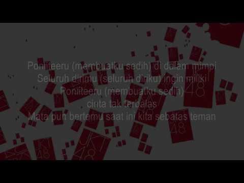 JKT48 - Ponytail to Shushu KARAOKE (Male Version)
