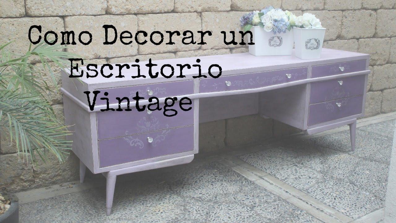 como hacer muebles vintage decorando un tocador youtube