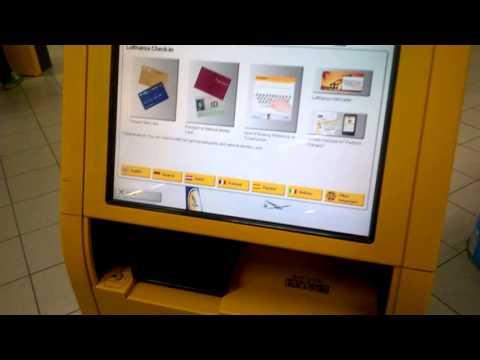 Самостоятельный чек-ин в аэропорту (Амстердам)