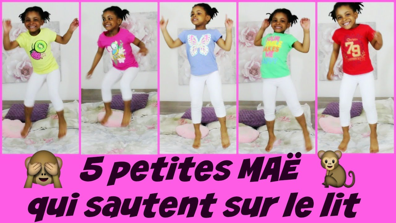 5 petites mae qui sautent sur le lit 5 little monkeys remix fran ais youtube. Black Bedroom Furniture Sets. Home Design Ideas