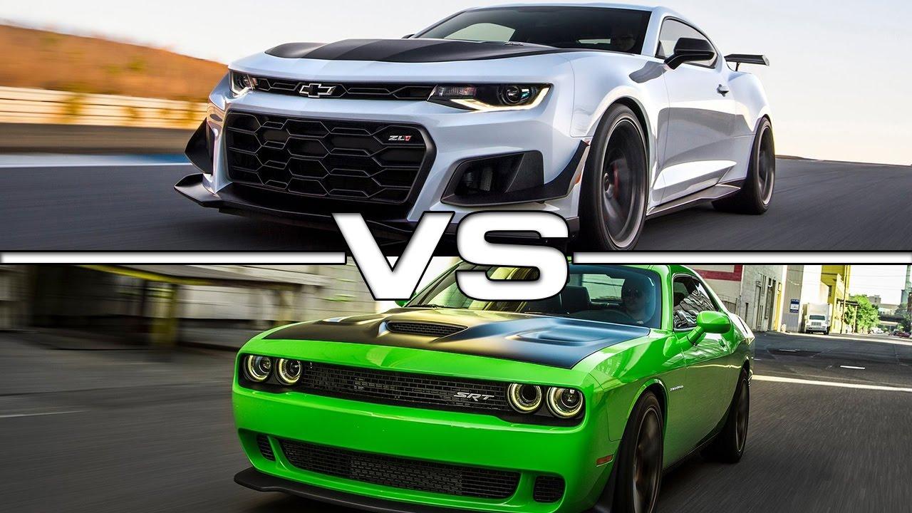 Hellcat 2018 Chevy Camaro >> 2018 Chevrolet Camaro Zl1 Vs Dodge Challenger Srt Hellcat Youtube