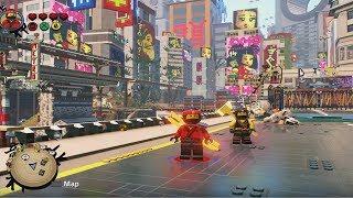 The LEGO Ninjago Movie Videogame - Free Roam Gameplay in Ninjago City