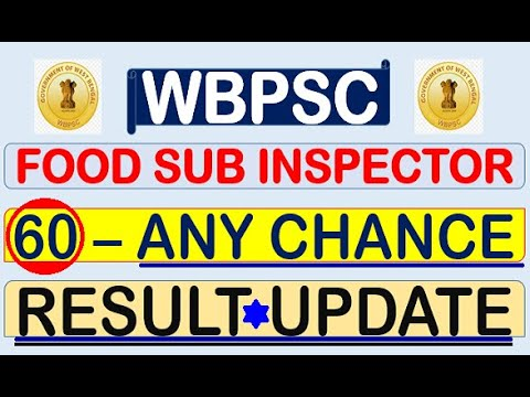 FOOD SUB INSPECTOR RESULT UPDATE CUT OFF ANALYSIS CONDUCTED BY WBPSC