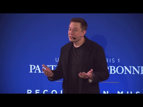 Elon Musk talks Climate Change and Carbon Tax at the Sorbone 2015