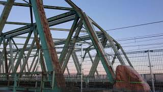 鉄道 電車 JR 鉄橋通過 荒川 総武線 総武本線 成田エクスプレス 8