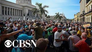 U.S. sanctions Cuba following violent crackdown on protesters