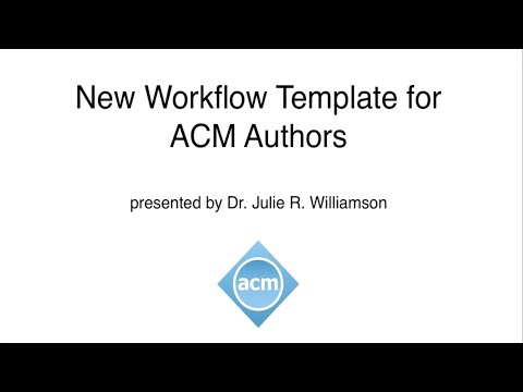 ACM Master Article Template