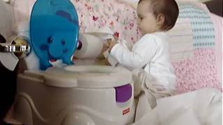 potty training or how to use the toilet paper