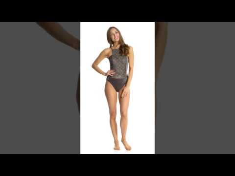 d4caf659aa9 Gottex Mystic Quartz High Neck One Piece Swimsuit | SwimOutlet.com - YouTube