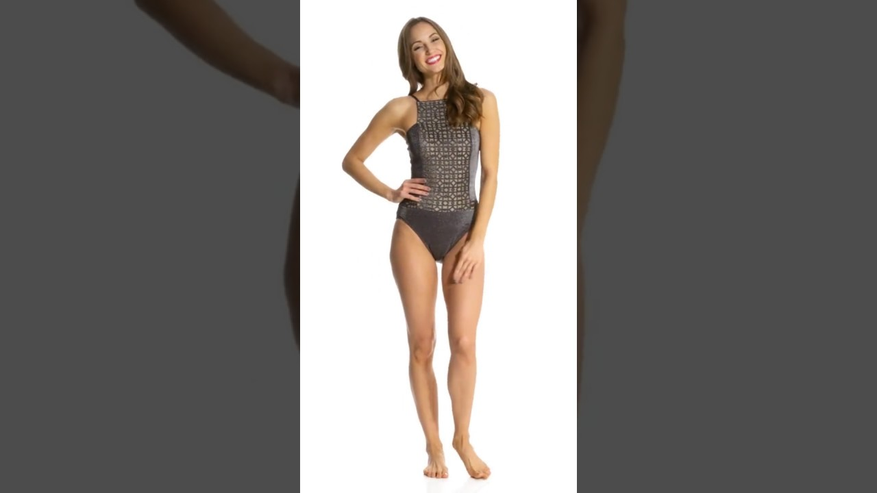06087d6ea01d Gottex Mystic Quartz High Neck One Piece Swimsuit | SwimOutlet.com ...