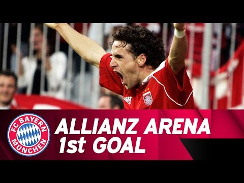 Owen hargreaves scores the first bundesliga goal in the allianz arena!