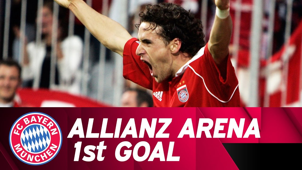 Owen hargreaves scores the first bundesliga goal in the allianz owen hargreaves scores the first bundesliga goal in the allianz arena altavistaventures Choice Image