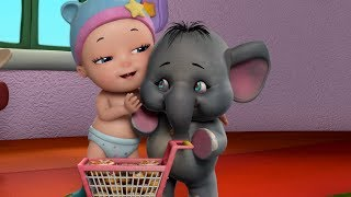 Little baby Jack and Elephant Friend | Baby Rhymes for Children | Infobells