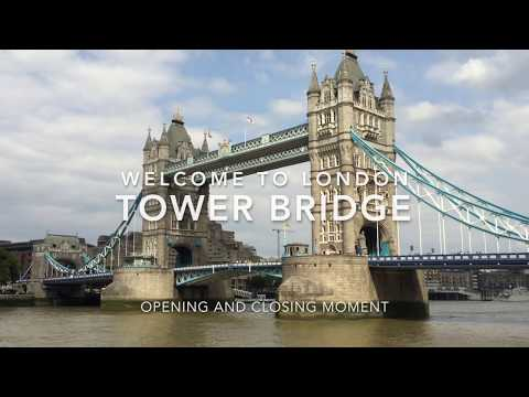 London Tower Bridge Opening and Closing Moment.