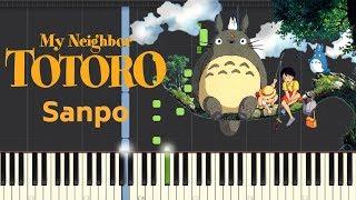 Totoro Stroll (さんぽ となりのトトロ) - My Neighbor Totoro - (Piano Tutorial) となりのトトロ 検索動画 48