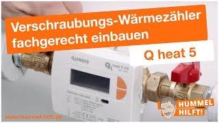 QUNDIS-Montagevideo: Verschraubungs-Wärmezähler Q heat 5 fachgerecht einbauen