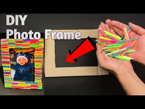Awesome Photo frame at home for kids | how to make easy photo frame | QuickArtAnjali