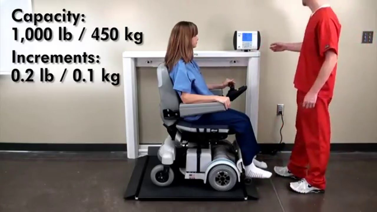 Wheel Chair Scale 7550 wheelchair scale demo - youtube
