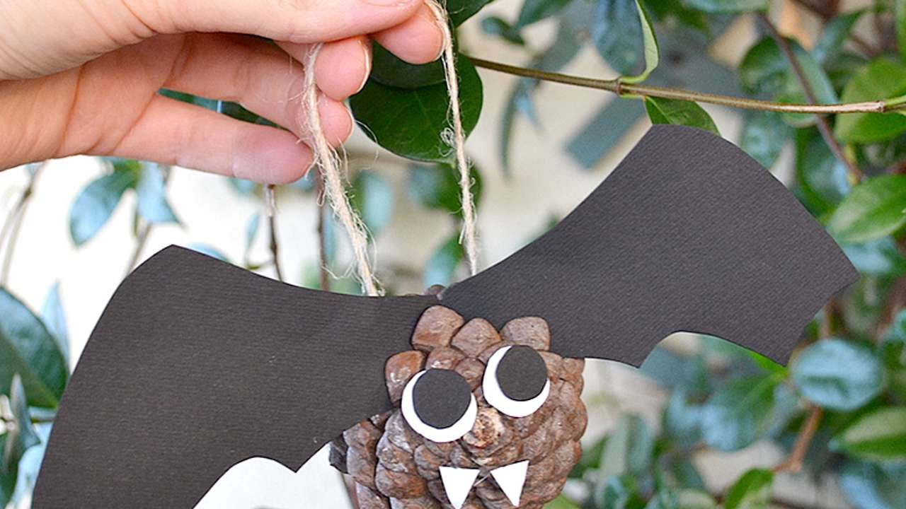 How To Make A Pine Cone Bat For Halloween Diy Crafts Tutorial Guidecentral