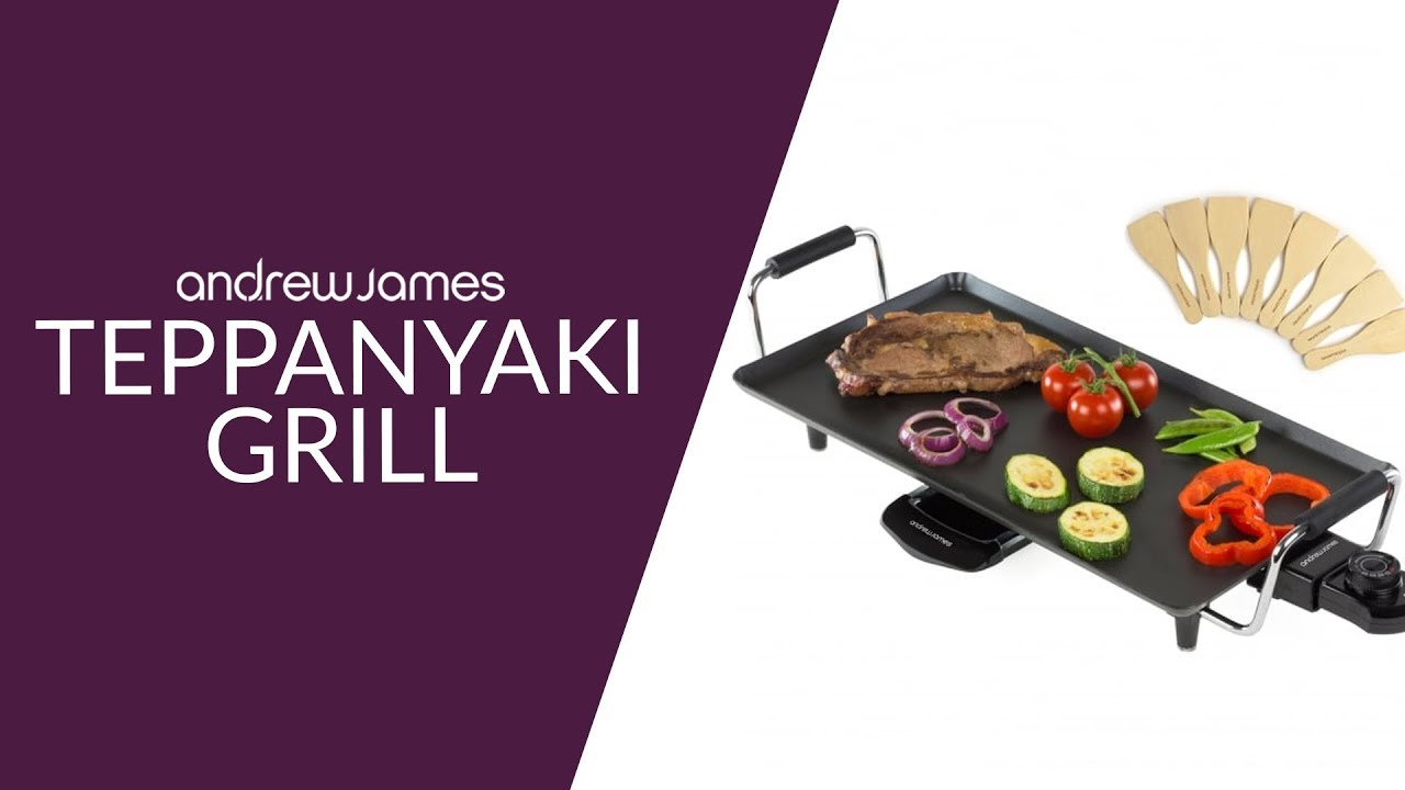 teppanyaki grill andrew james youtube. Black Bedroom Furniture Sets. Home Design Ideas