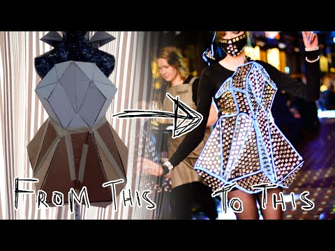 Making of Recycled Fashion: Geometric Reflection