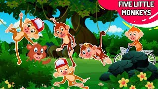 Five Little Monkeys Jumping on the Bed, Duck Song | More Nursery Rhymes and Kids Songs by Baby Hazel