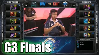 Dire Wolves vs Chiefs | Game 3 Grand Finals Oceanic Pro League Spring 2015 | DW vs CHF G3
