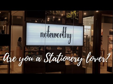 IF YOU LOVE STATIONERY| NOTEWORTHY IS NOW OPEN AT ONE BONIFACIO HIGH STREET MALL-BGC