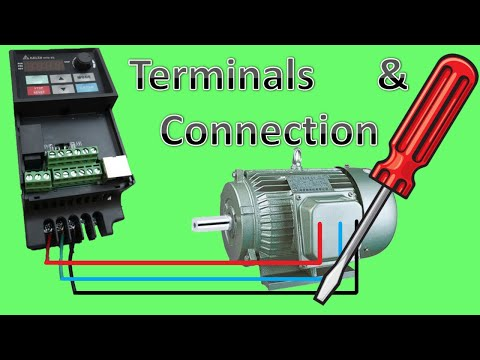 Vfd And Motor Terminals Connection Youtube