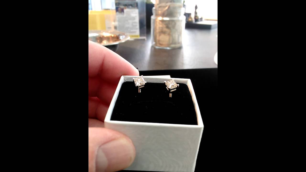 14k White Gold 75 Ct Diamond Earrings Tcw 1 5 2799 Wests And Silver 778 406 0606
