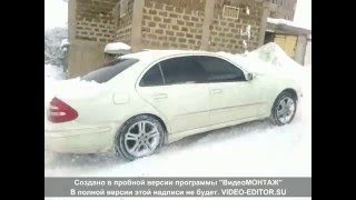 Mercedes e350 4matic snow
