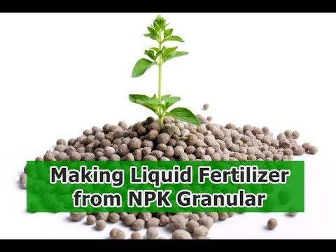 Making Liquid Fertilizer From NPK Granular