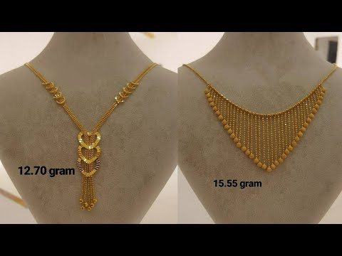 Light weight gold chain necklaces designs with weight 2018