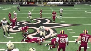 Football-NFL-Madden 25 :: Defensive Touchdowns Galore! :: Saints Vs. Redskins - Online Gameplay PS4