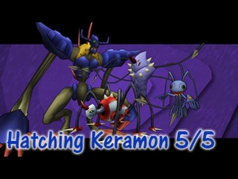 hatching keramon 55 digimon masters online youtube
