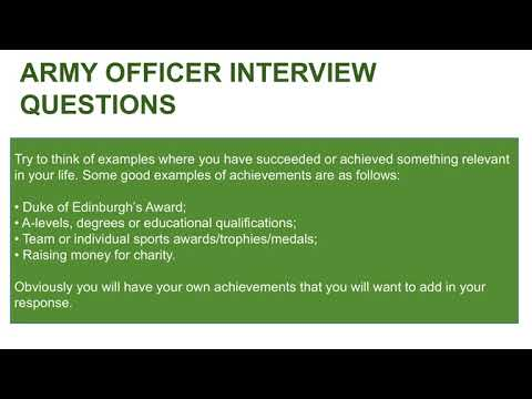 ARMY OFFICER Interview Questions