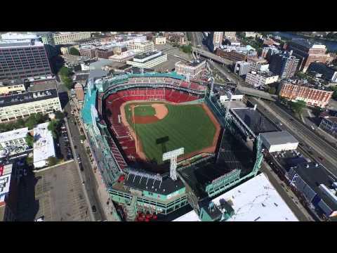 Fenway Park in Boston, MA Drone Aerial Dji Inspire 1 August 1 2015